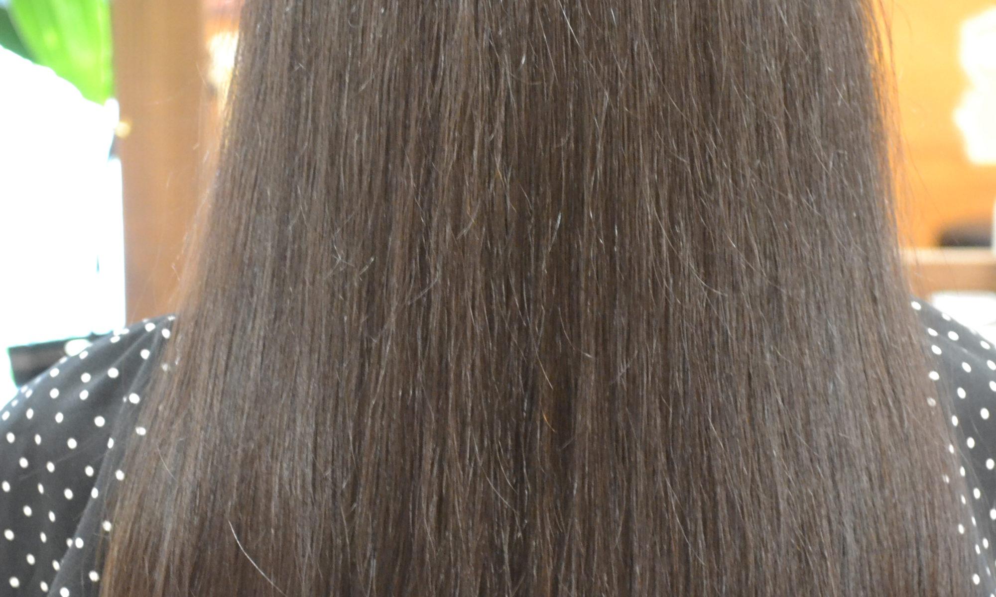 縮毛矯正後
